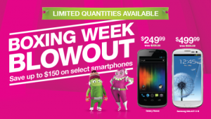 Mobilicity Canada Boxing Week Blowout 2012 on Smartphones