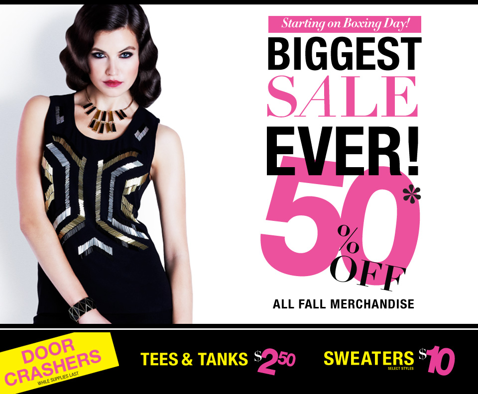 999266146ad56 Suzy Shier Canada Boxing Day Sale (Boxing Week Sale) › Cyber Monday ...